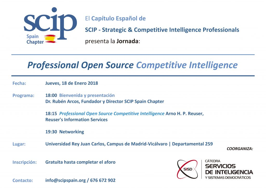 SCIP Spain Chapter Meeting with Arno Reuser